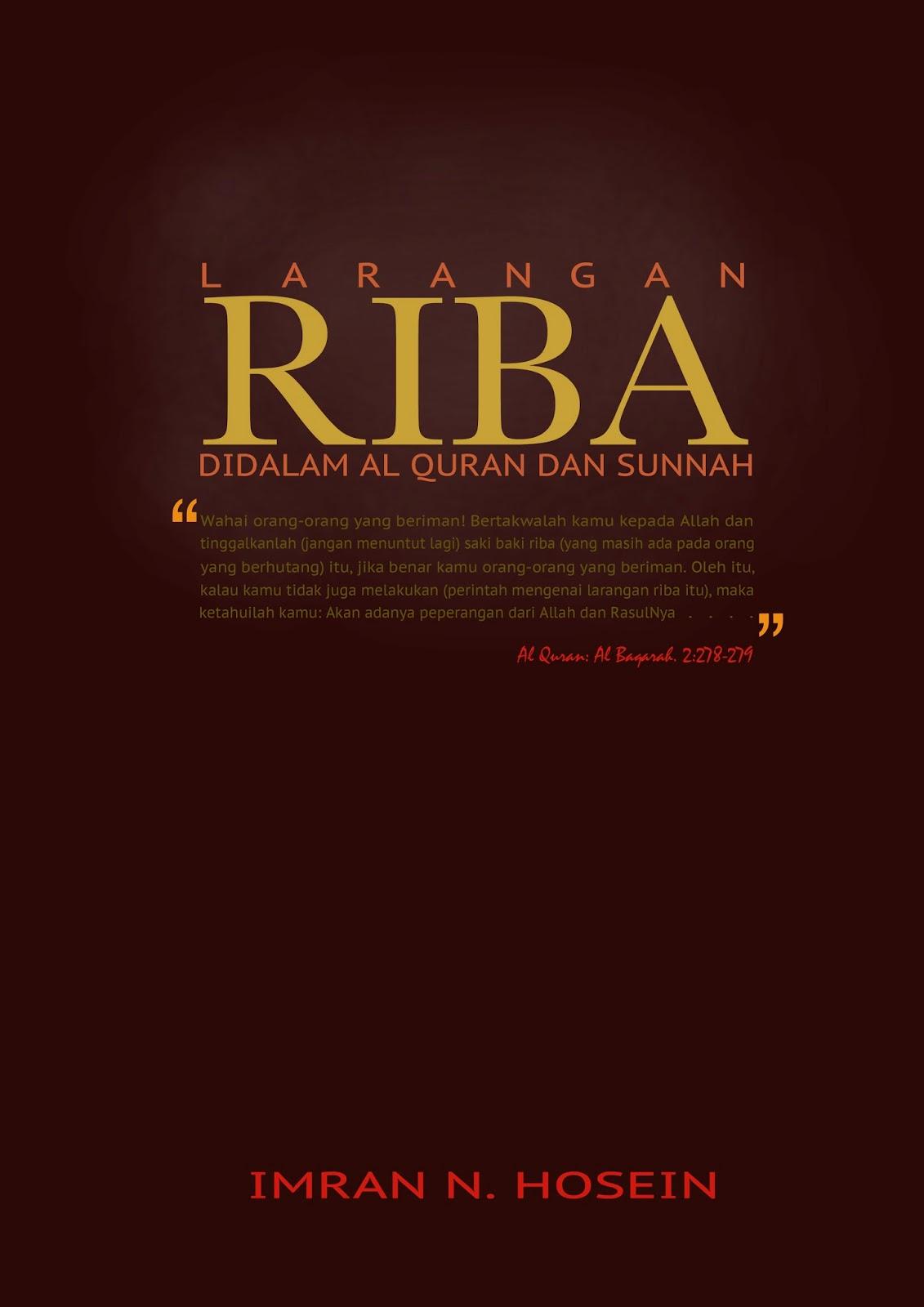 Larangan Riba Didalam Quran & Sunnah