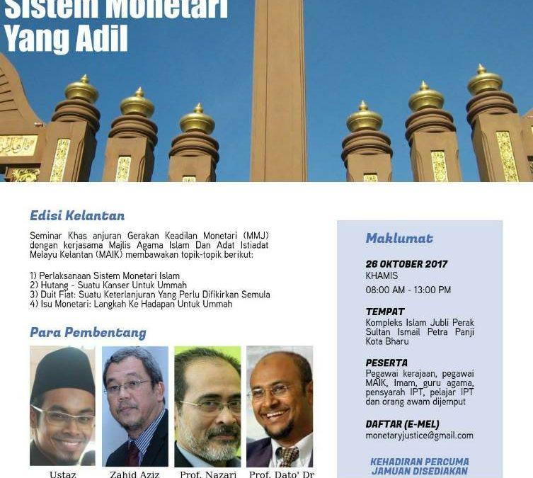 Seminar – Memperjuangkan Sistem Monetari Yang Adil